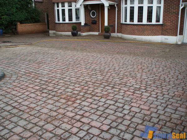Blocks on driveway neding cleaning